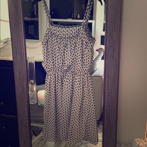 Cream colored Paisley pattern dress
